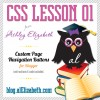 CSS Lesson 01 – Custom Navigation Blogger Buttons
