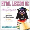 HTML Lesson 02 – Live Links in Comments