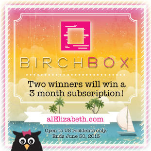 June 2013 Giveaway - Birchbox