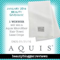 January 2016 Beauty Giveaway - Aquis