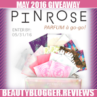 May 2016 Beauty Blog Giveaway - Pinrose Perfume